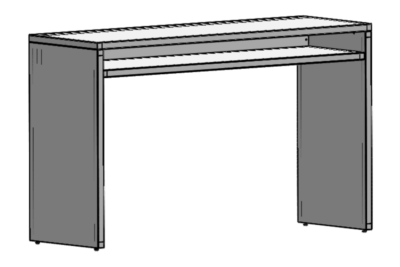 Brückentisch, weiß L:180 cm B:60cm H:110cm