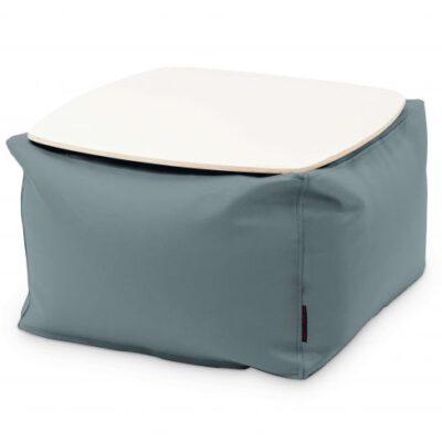 Loungebag - Tisch - Stoff Ox Grau mit Tischplatte Weiß