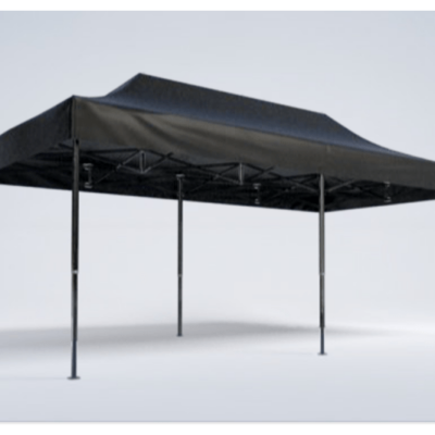 Pavillon - 6m x 3m - schwarz - Mastertent