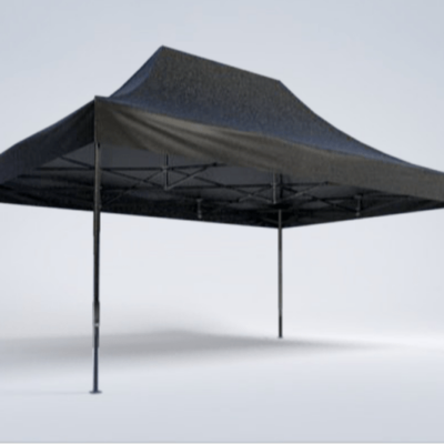 Pavillon - 6m x 4m - schwarz - Mastertent