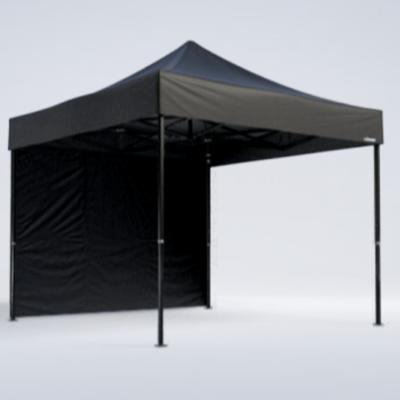 Pavillon - Seitenwand 4m - schwarz - Mastertent