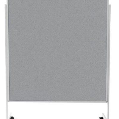 Pinnwand, Moderationstafel grau 150 x 120 cm, Rollen