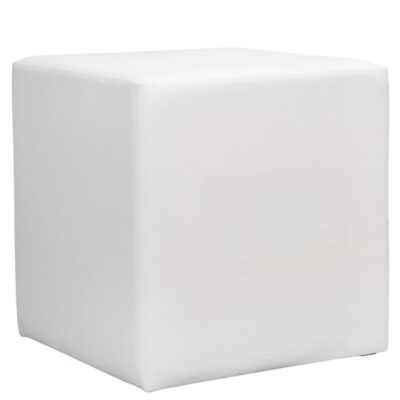 Sitzwürfel Lounge weiß