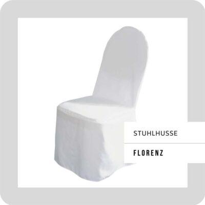 Stuhlhusse Florenz für Bankettstuhl, weiß