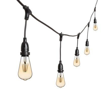 Vintage Lichterkette - 5m - 8 LED Edisonbirnen Ø 64 mm