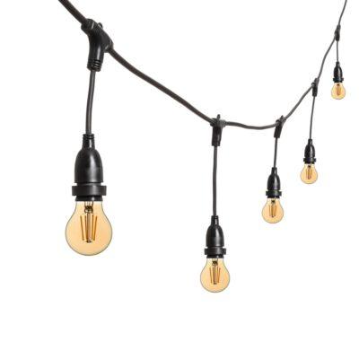 Vintage Lichterkette - 5m - 8 LED LED Tropfenbirnen